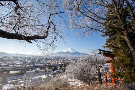 sengen: Mt. Fuji  in winter, Fujiyoshida, Japan
