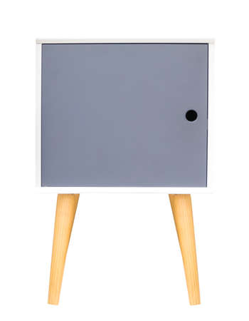 furnishings: wooden cabinet isolate on white background