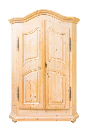 wooden cabinet isolate on white background