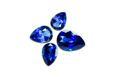 dazzlingly: Blue sapphire isolated on black background