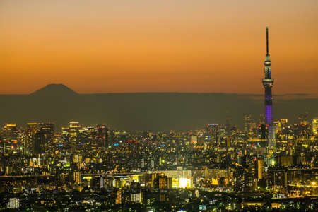 TOKYO, JAPAN - Nov 12 :Tokyo Sky Tree (634m) at dusk on Nov 12, 2016.Tokyo Sky Tree is the highest free-standing structure in Japan and 2nd in the world with over 10million visitors each year.