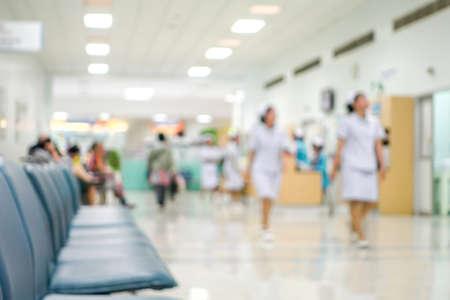 Blur nurse in hospital background