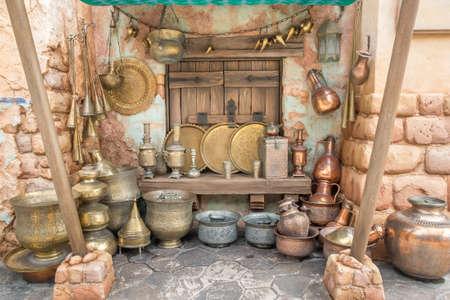 antique vase: Arabian brass wares decorration