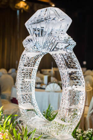 Ice Sculpture at wedding party