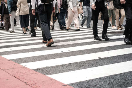 Crowded on street in Japan