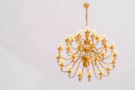 chandelier in classic room shining Stock Photo - 86936218
