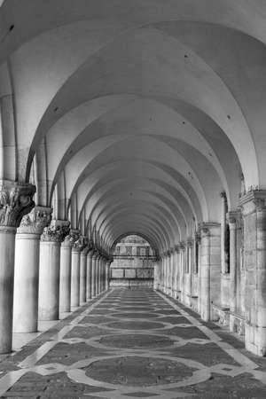 Historic and beautiful walkway with arches