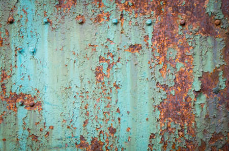 texture of rusty metal with rivets