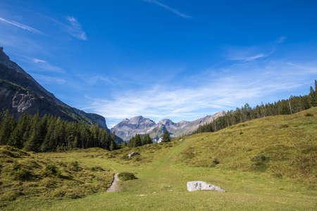 mountain panorama. Swiss Alps