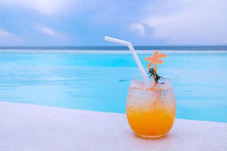 orange juice tropical background