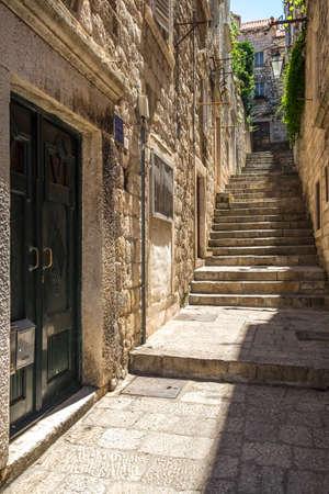 Dubrovnik, Croatia. Dubrovnik old city street view Stock Photo
