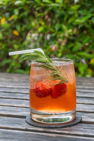 Strawberry Fruit Mocktail Stock Photo