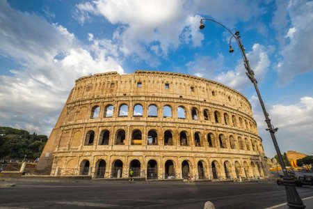 Colosseum in Rome in a moring, Italy