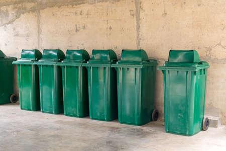 Large green bins Stock Photo