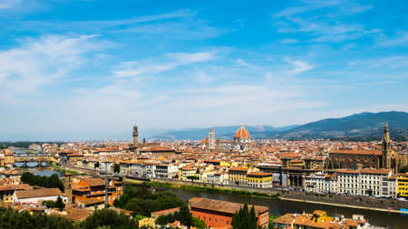 Top view of Florence and Saint Mary of the Flower in Florence