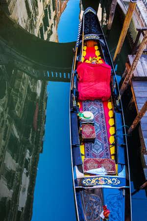 gondolas in Venice, Italy. Stock Photo