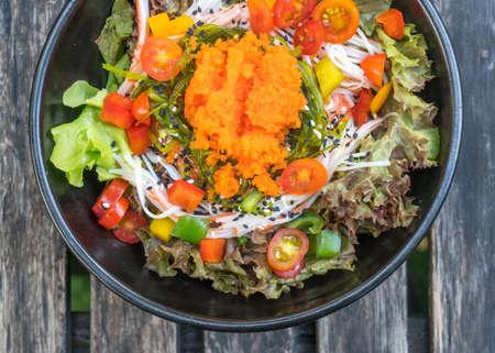 Japanese seafood salad - healthy food