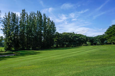 golf course in sunny day