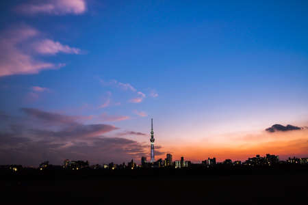 Lanscapes in tokyo with Tokyo Sky Tree
