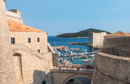city port in Dubrovnik. Croatia.