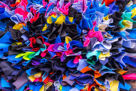 Texture of colorful cloth for feet