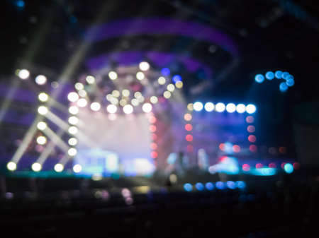 concert stage blurred