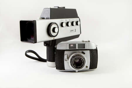 old film camera and photographic Stock Photo