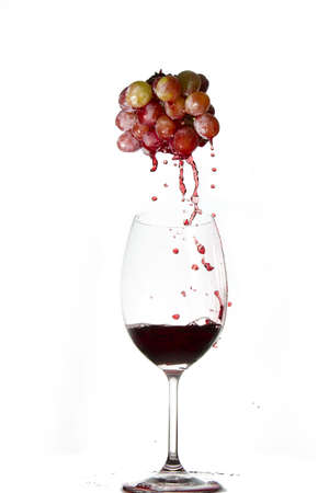grapes in wine glass