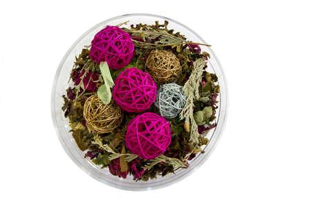 dried flower centerpiece Stock Photo