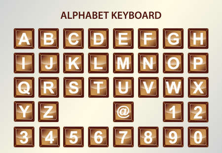 alphabet keyboard Vector