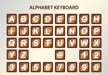 alphabet keyboard Stock Vector - 17134275
