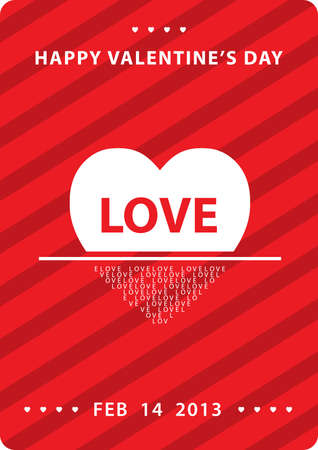 love 14 feb  Vector