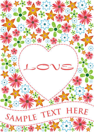love card sample  Vector