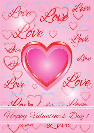 memorable: love background Illustration