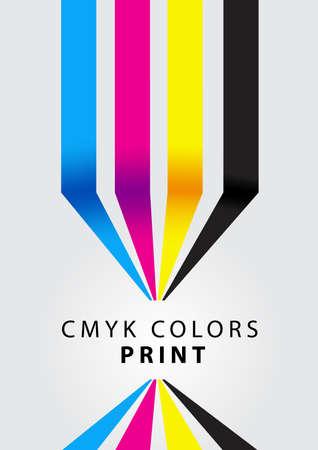 cmyk kleuren af te drukken Stock Illustratie