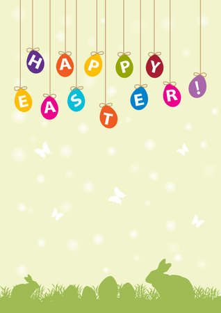 nice background: easter card