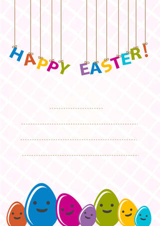 happy easter card Stock Vector - 17187269