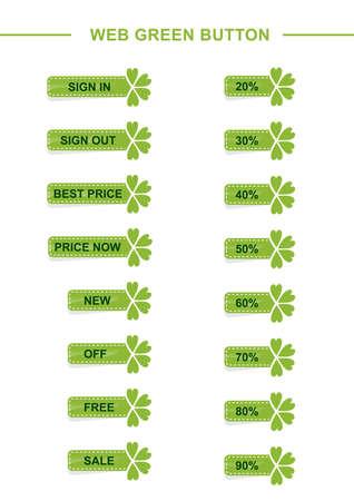 web green button Stock Vector - 17187273