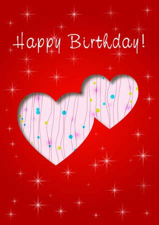truelove: happy birthday whit love Illustration