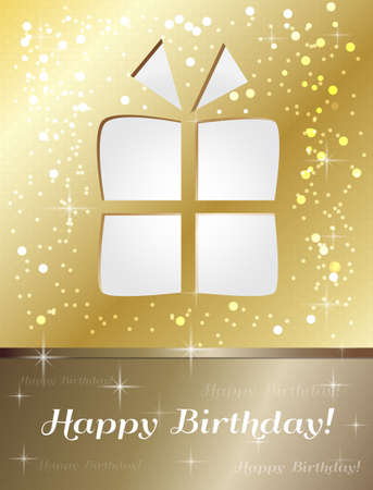 happy birthday gift card Stock Vector - 17248848
