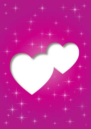 pink love card Vector