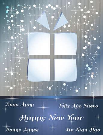 happy new year card Stock Vector - 17248844