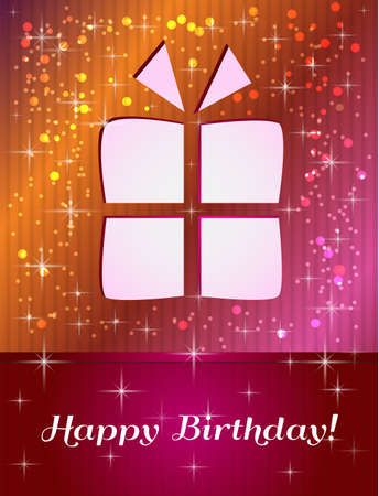 happy birthday reds card Stock Vector - 17248842