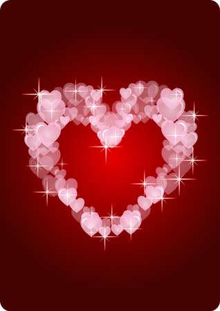 memorable: modern hearts card