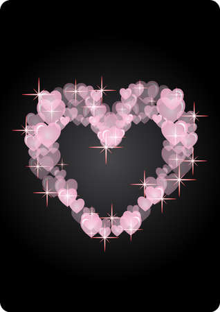 memorable: sophisticated hearts in black background