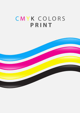 cmyk colors print Illustration