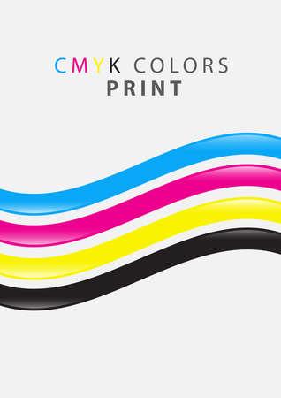 cmyk colors print Illustration