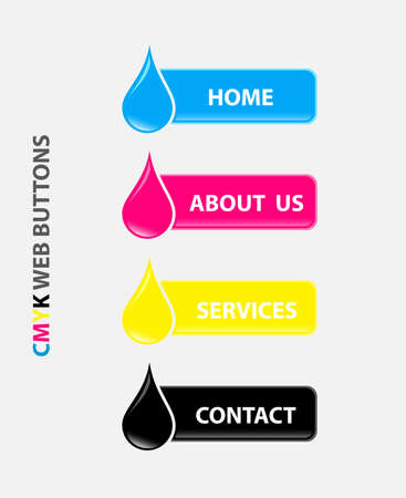 cmyk abstract: drop cmyk web buttons Illustration