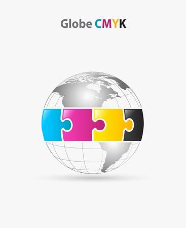 globe cmyk Illustration