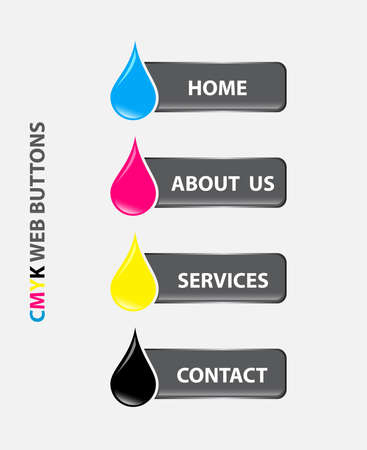 drop cmyk buttons Stock Vector - 17275746